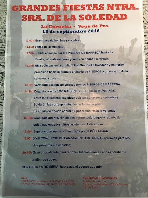 Grandes Fiestas Nuestra Señora de la Soledad 2016, La Gurueba - Vega de pas