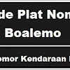 Kode Plat Nomor Kendaraan Boalemo