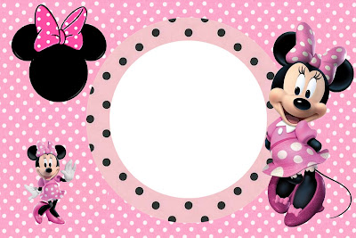 Inspired in Minnie Mouse Free Printable Party Invitations in pink