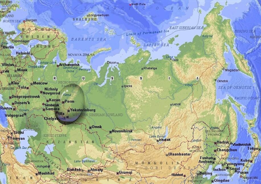 map urals