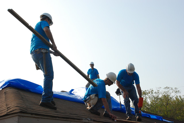 Blue Roof Installation