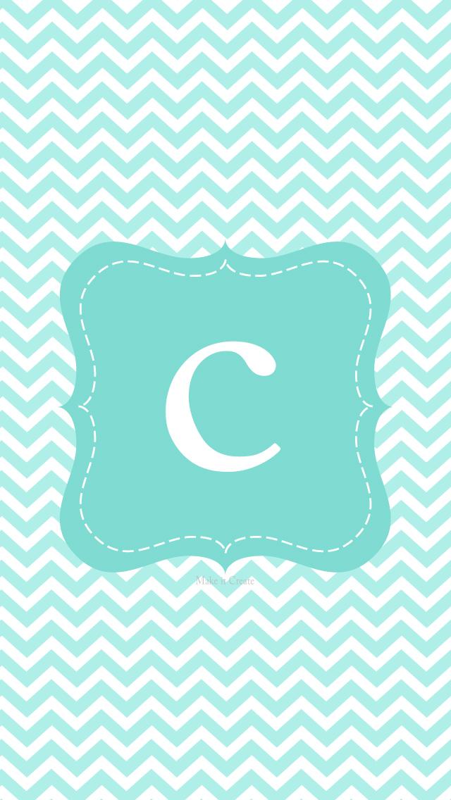 Julesoca blog iphone 5 chevron initial - Turquoise wallpaper pinterest ...