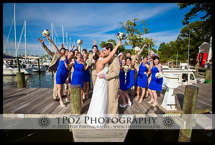 Bridal Party Portraits Port Annapolis Marina Wedding