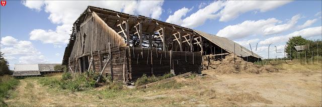 Усадьба Рейтанов. Панорамное фото развалин