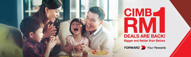 CIMB Cards RM1 Deals Campaign Promo