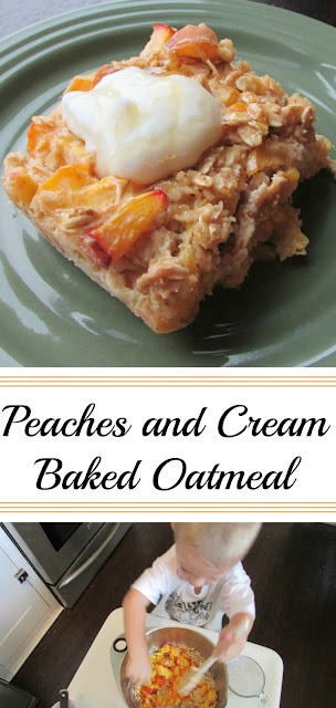 Like a little bite of home, this peaches and cream baked oatmeal is nutritious, filling and delicious all at once! You have to try it!