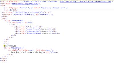 UI + JS Full Stack By Mr  NARASIMHA Rao : June 2015