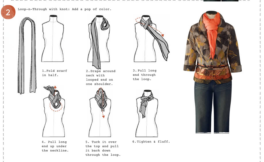 HOW TO TIE A SCARF How To Tie Scarf French Style
