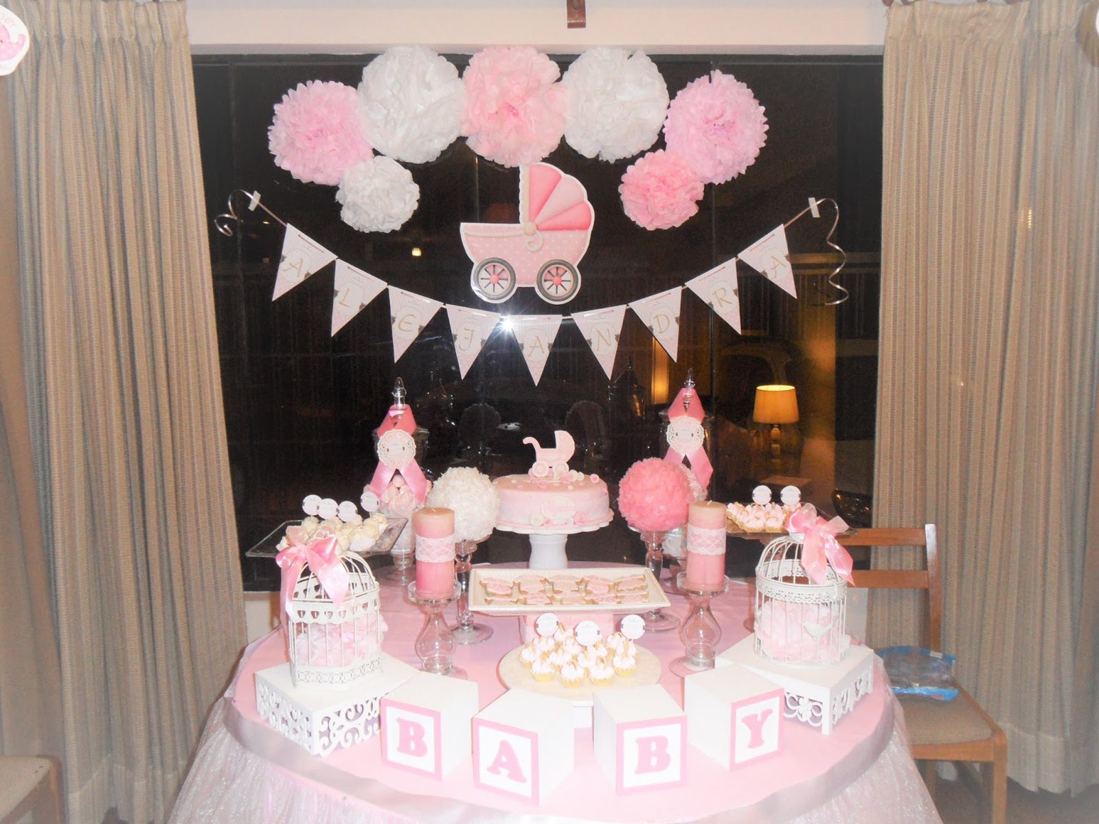 Decoracion de baby shower nina car interior design for Decoracion para pared de baby shower