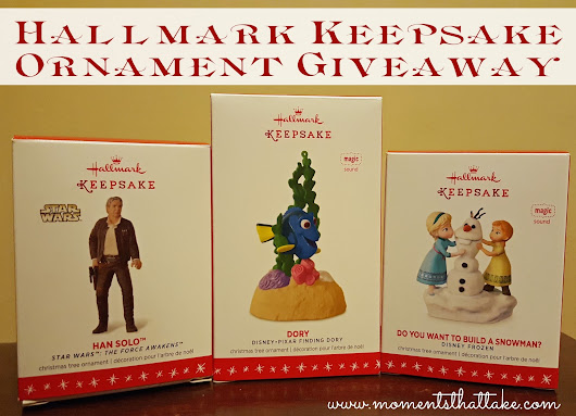 Hallmark Keepsake Ornaments Review & Giveaway!