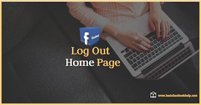 Facebook home page log out