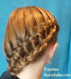 Simple Waterfall Braid Curls