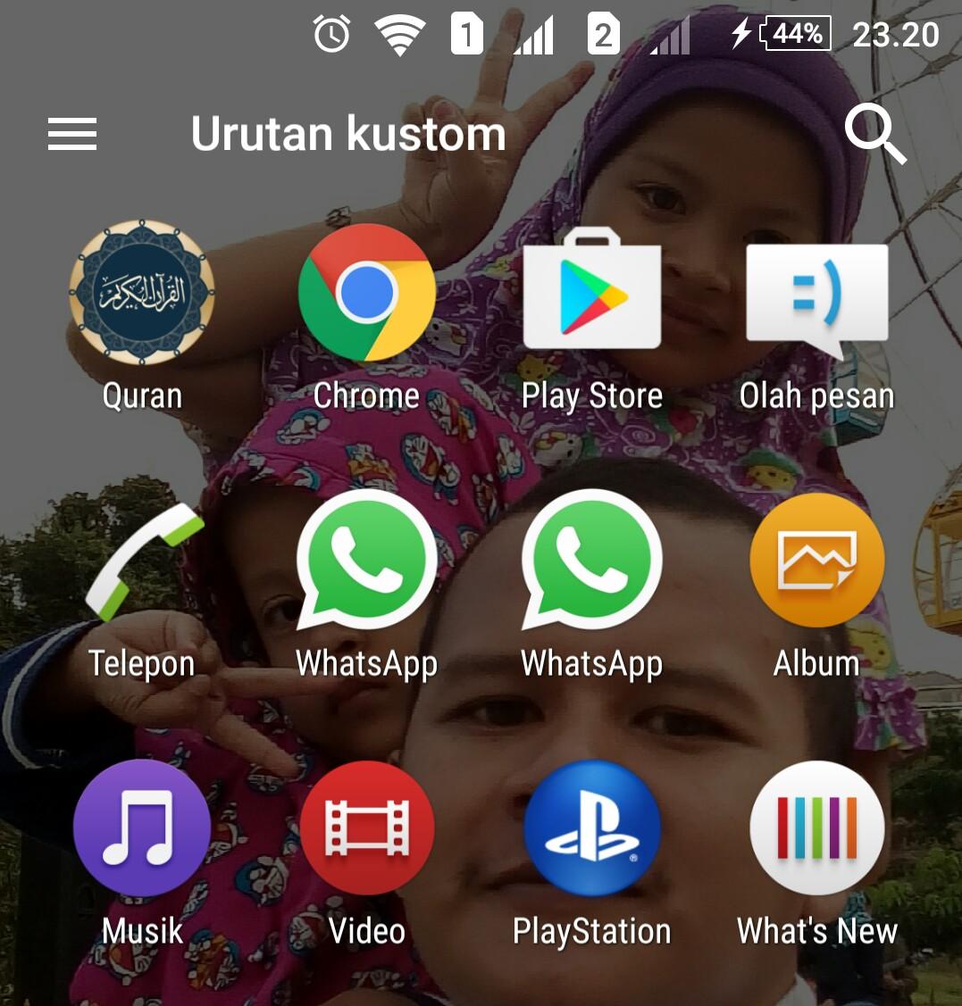 cara mengembalikan icon menu di android