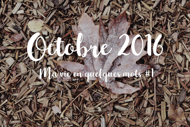 octobre 2016 ma vie en quelques mots
