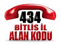 0434 Bitlis telefon alan kodu