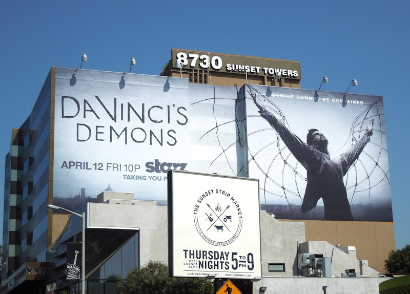 DaVincis Demons TV billboard