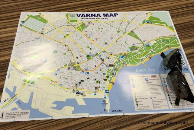 mapa Jardín Marítimo de Varna