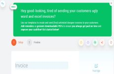 Invoice Template: aplicación para crear facturas online de manera sencilla y gratuita