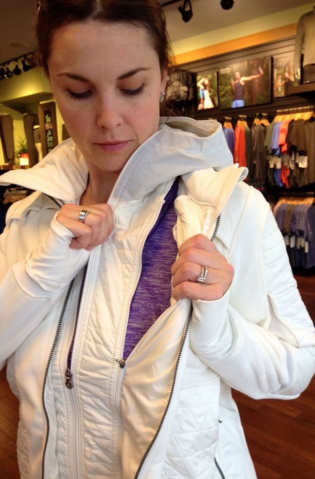 lululemon white fleecy keen jacket