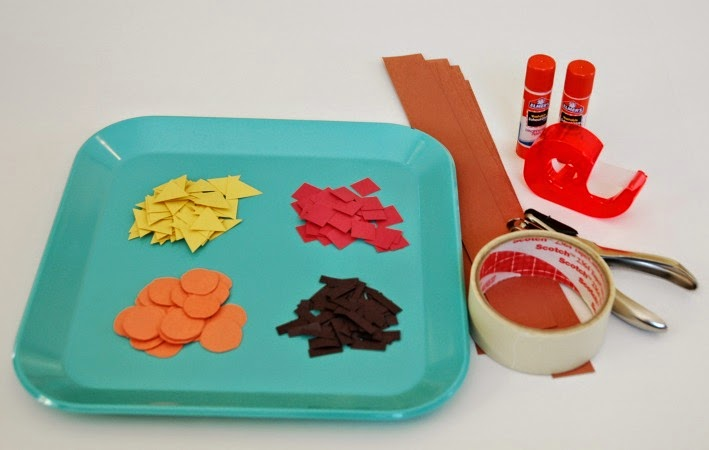 Materials Used for Native American Pattern Headbands-- Thanksgiving Craft for Kids