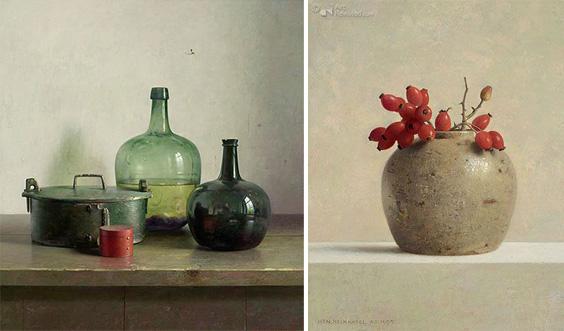 Henk Helmantel  peinture nature morte