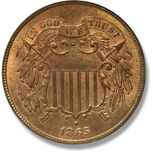 2 cents 1865