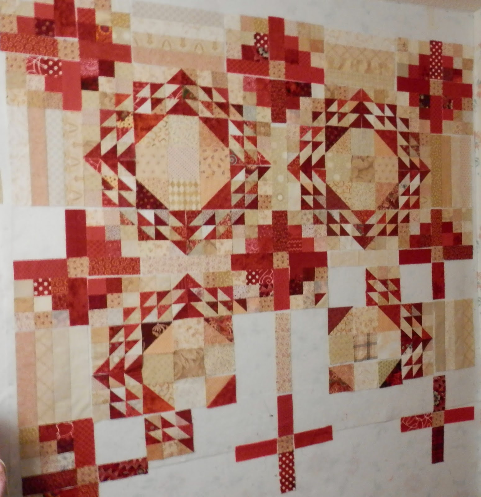 L Fair Quilts Red Design Wall