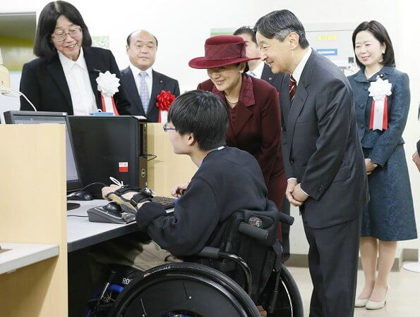 Japanese Emperor Naruhito and Empress Masako attended an event celebrating the 40th anniversary of the National Rehabilitation Center