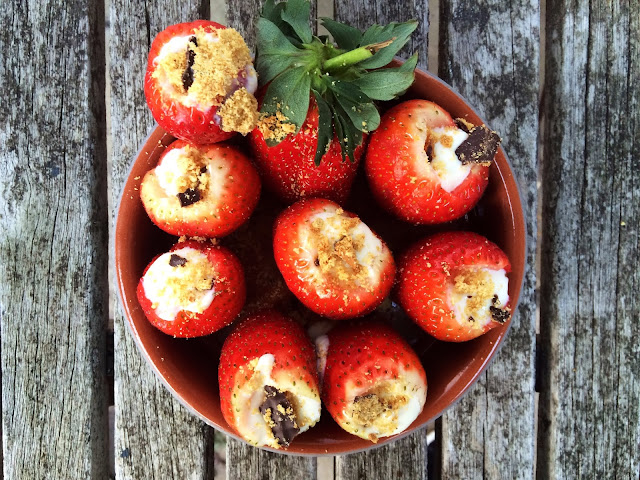 The Betty Stamp Lifestyle Blog Cheesecake Stuffed Strawberries