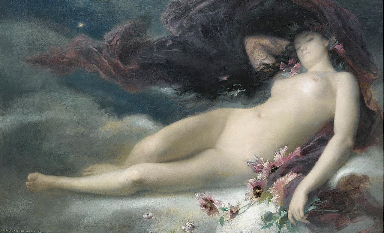 Night Alexandre-Auguste Hirsch, French, 1875 Image image & history Sotheby's Auction House.