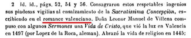 Isabel de Villena, Leonor Manuel de Villena, sermones, Vida de Cristo, Valencia, 1497, López de la Roca, religión, romance valenciano,