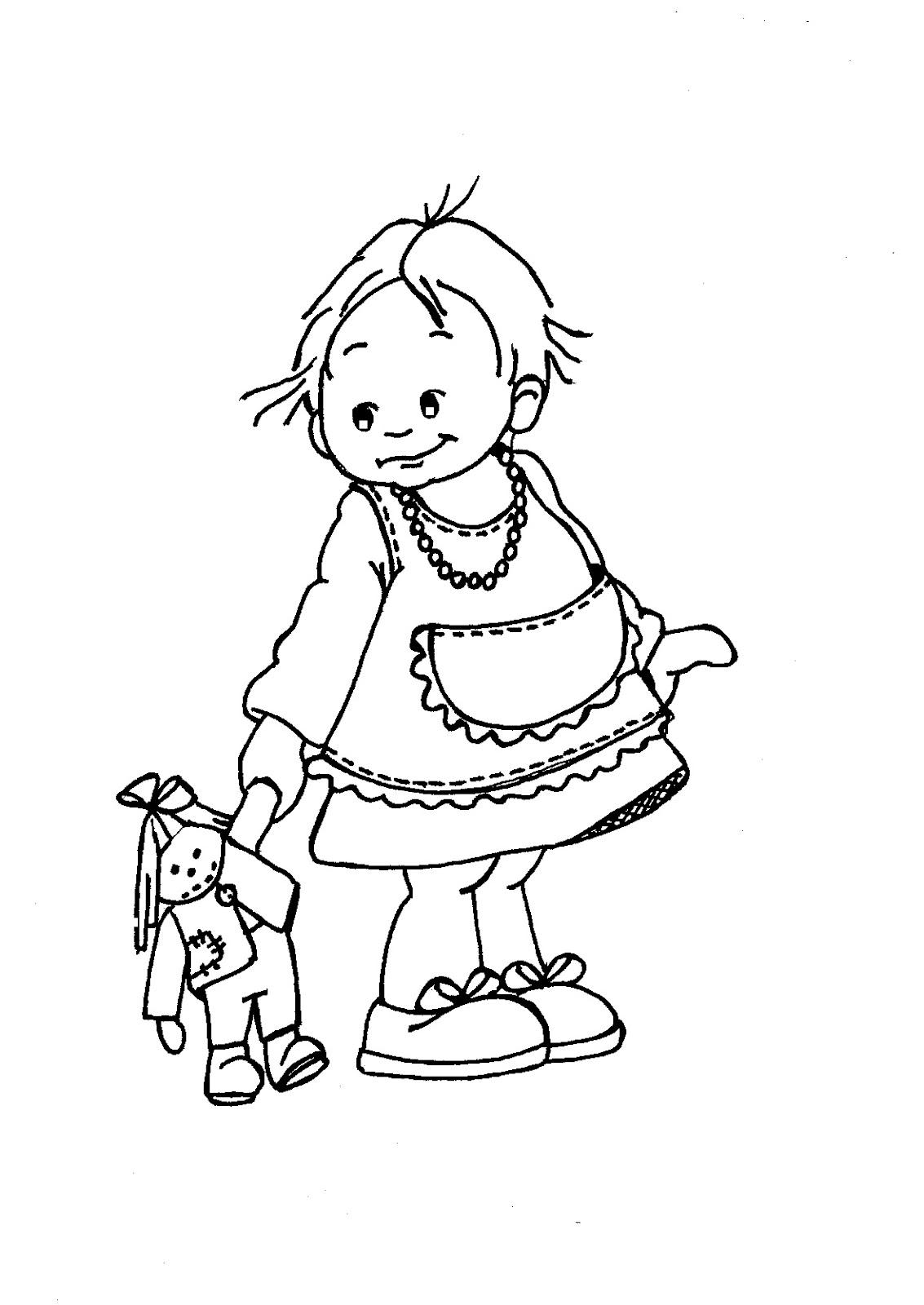 .: Flicka med docka