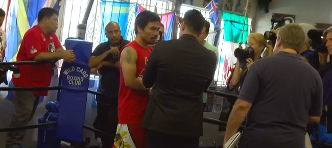 Manny Pacquiao Media Day Workout at Wild Card Gym (VIDEO)