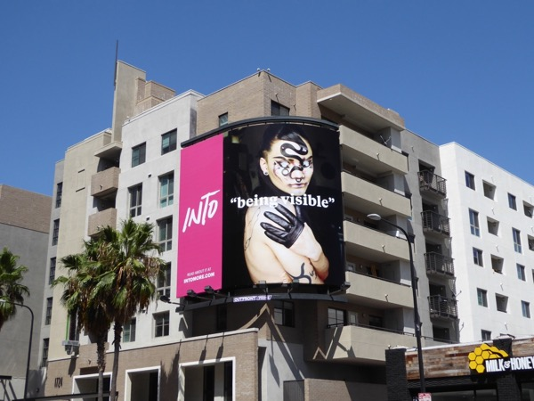 Into Being Visible Grindr billboard