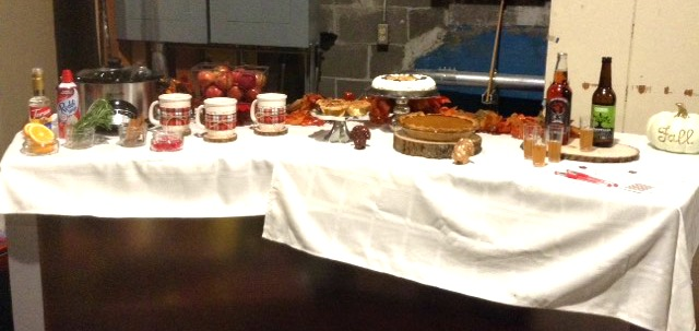 Friendsgiving Table set up and ready for it's tv appearance.