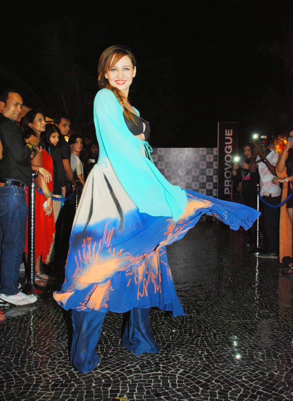 Stephanie Timmins walks the ramp for Babita Malkani