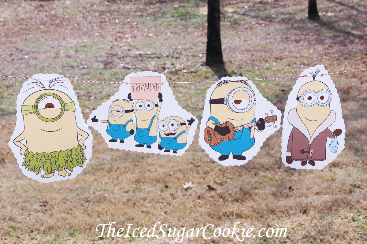 DIY Birthday Blog Minions Birthday Party DIY IdeasFlag Bunting