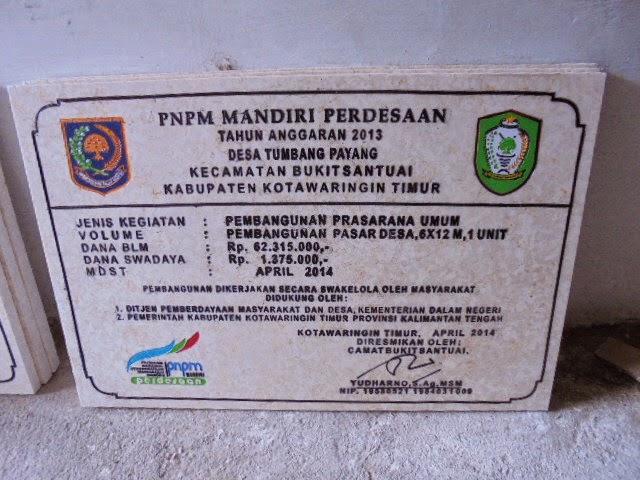 Prasasti PNPM Kota waringin Timur