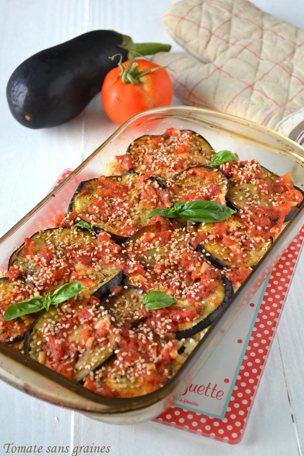 Gratin D'aubergine Sans Tomate : gratin, d'aubergine, tomate, Gratin, D'aubergines, Complet, Tomate, Graines,, Engagé, Stéphanie, Faustin