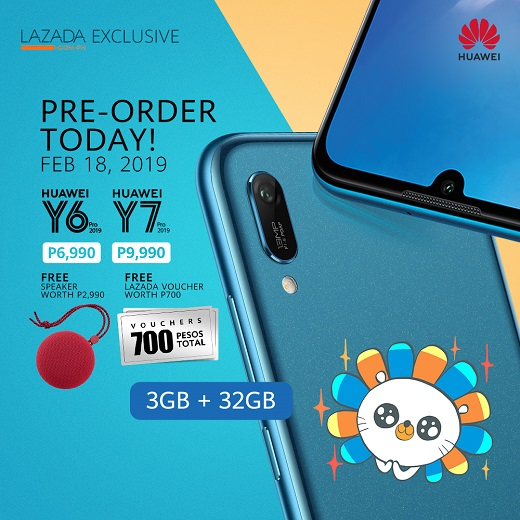 outlet store a6ea1 6ca66 Pre-Order Huawei Y7 Pro and Y6 Pro in Lazada today and Get Php 3690 ...
