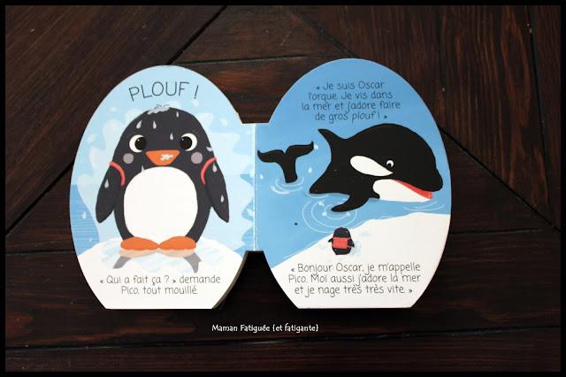 Livre aventure antarctique pingouin ballon
