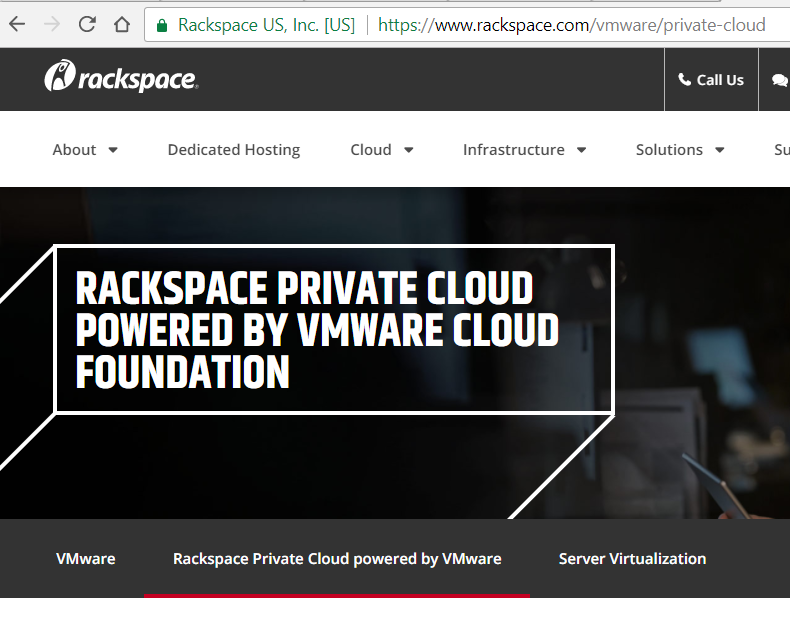 Converge Network Digest Rackspace Is Rolling Out A Vmware Private Cloud Offering