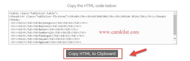 Cara Mudah dan Simpel Membuat Tabel HTML di Web / Blog