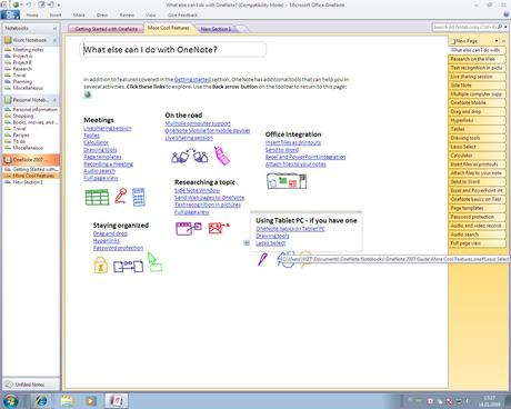 Microsoft Office OneNote 2010 Screenshots Full Free Download