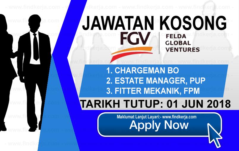Jawatan Kerja Kosong FGV - Felda Global Ventures logo www.findkerja.com jun 2018