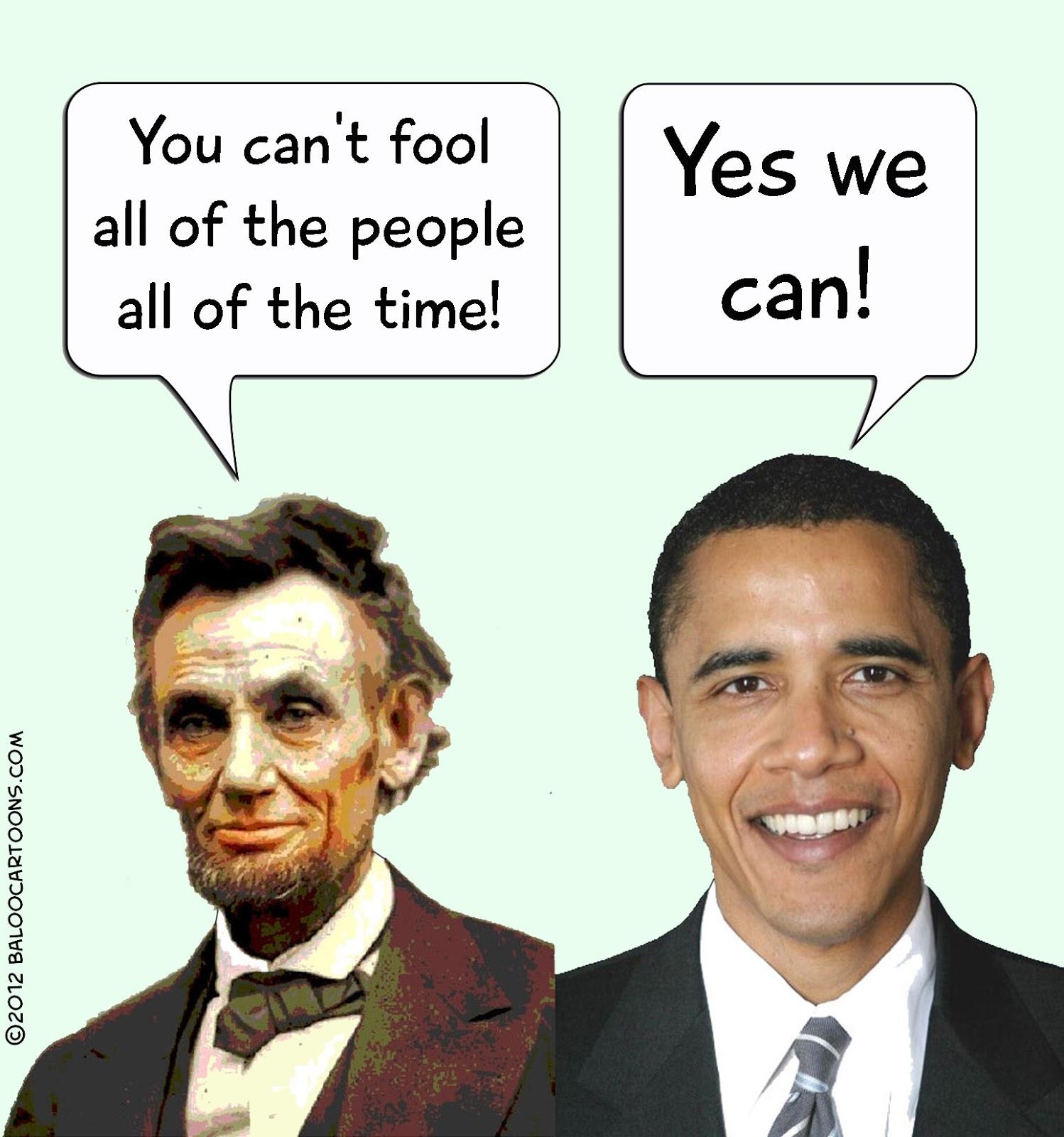 Baloo S Cartoon Blog Obama Lincoln Cartoon