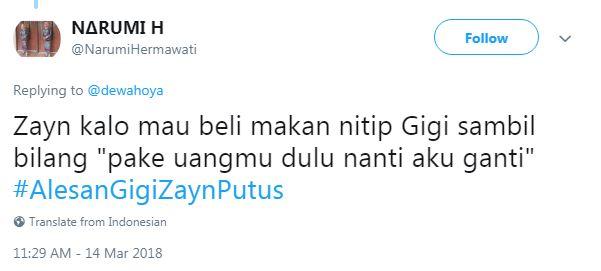 15 Tweet Kocak 'Alasan Gigi & Zayn Putus' Ini Bikin Ngakak Parah