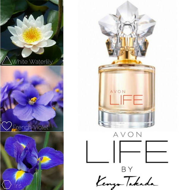 AVON LIFE by Kenzo Takada, eau de parfum for her. A woody and floral blend and its olfactory notes