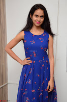 Pallavi Dora Actress in Sleeveless Blue Short dress at Prema Entha Madhuram Priyuraalu Antha Katinam teaser launch 045.jpg