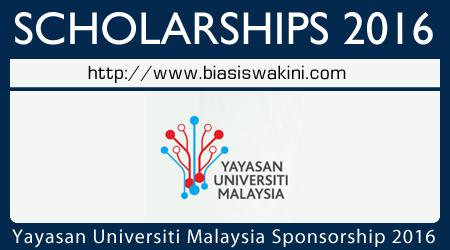 Yayasan Universiti Malaysia Sponsorship 2016
